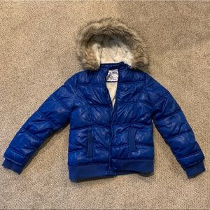 Girl's Justice Puffy Coat w/ hood!